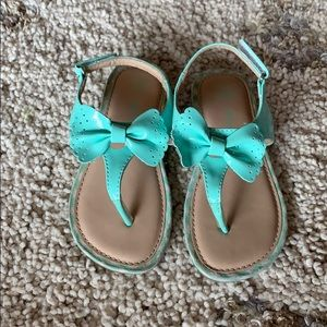 Girls mint sandals